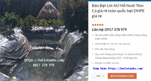 Bạt Lót Hồ Nuôi Tôm tại Sóc Trăng Giá Rẻ, Bạt Nhựa HDPE Lót Hồ Nuôi Tôm Cá Sóc Trăng… MUA BẠT XẾP 0917 378 979