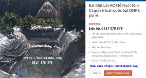 Bạt Lót Hồ Nuôi Tôm Cà Mau, Bạt Nhựa Lót Hồ Tôm tại Cà Mau Giá Rẻ